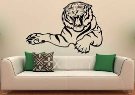 A Bust Of Tiger Wall Decal Vinyl Stickers Wild Cat Pride Animals Home Interior Design Art Office Murals Bedroom Decor Bedroom Decor Home Interiorwild Animals Cats Aliexpress