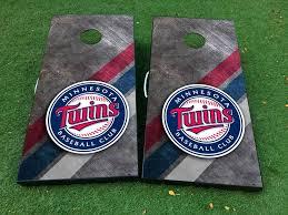 Product Minnesota Twins Baseball Cornhole Board Game Decal Vinyl Wraps With Laminated