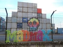 Urban X Stitch Street Artist Cross Stitches Yarn On Fences Urbanist