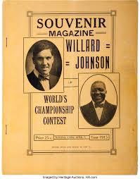 1915 Jack Johnson vs. Jess Willard Official On-Site Fight | Lot #80069 |  Heritage Auctions