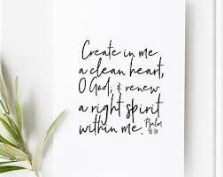 Psalm 51 10 Etsy