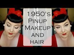 pinup makeup and hair tutorial
