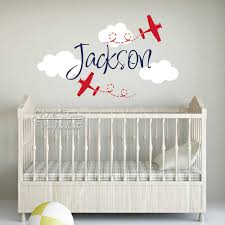 Kids Name Wall Sticker Cartoon Airplane Name Wall Decal Children Boys Name Stickers Baby Nursery Decals Cut Vinyl Stickers C61 Name Wall Stickers Wall Stickerwall Sticker Name Aliexpress