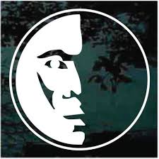 Crescent Moon With Face Car Decals Window Stickers Decal Junky