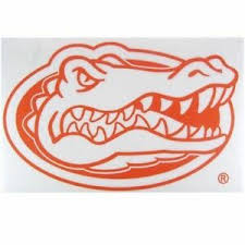 23 Large Florida Gator Die Cut Vinyl Car Decal Sticker Boat Alligator Orange Ebay