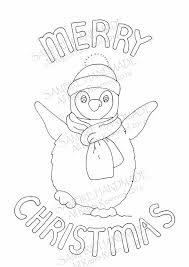 Pinguin Digitale Download Kerstmis Downloads Kleuren In Kids Etsy