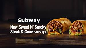 subway new sweet n smoky steak guac wrap