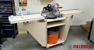 How To Build A Mobile Miter Saw Station With Plans Fixthisbuildthat