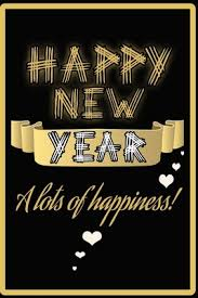 happy new year wish you a lots of happiness golden quote notebook