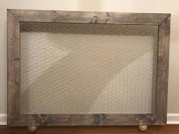 custom fireplace screen frame custom