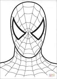 Spiderman S Hoofd Kleurplaat Gratis Kleurplaten Printen