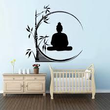 Large Buddha Bamboo Wall Decal Bedroom Living Room Om Yoga India Religion Buddha Bamboo Plant Wall Sticker Vinyl Art Wall Stickers Aliexpress