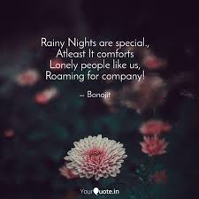 rainy nights are special quotes writings by sidharth