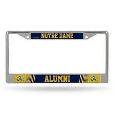 Notre Dame Fighting Irish Alumni Metal Chrome License Plate Frame Auto Truck Car 767345777515 Ebay