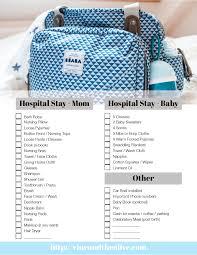 bringing home bébé hospital checklist