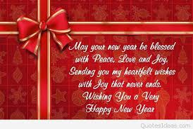 blessed and new year peace quote