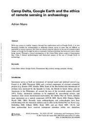 """Camp Delta, Google Earth and the Ethics of Remote Sensing in Archaeology""""  by Adrian Myers"""