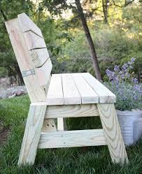 2 x 4 outdoor bench ana white
