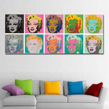 Painting Wall Art Andy Warhol Marilyn Monroe Art Prints Nature Wall Pi Discount Canvas Print