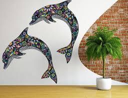 Abstract Dolphin Wall Sticker Texture Dolphin Wall Decal Etsy Dolphin Wall Art Wall Stickers Texture Vinyl Art