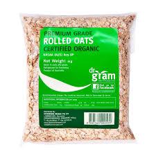 dr gram organic rolled oats 1kg