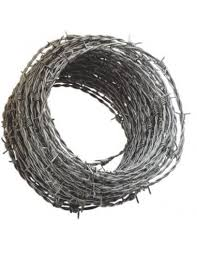 Galvanised Security Fencing Barbed Wire 25m X 1 7mm