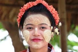 traditional makeup of the burmese