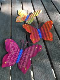 Set Of 3 Butterfly Fence Art Hanging Fence Wall Decor Yard Art Indoor Or Outdoor Fence Butterfly Privacy Fence Patio Metal Art
