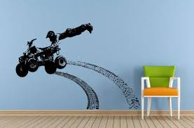 Amazon Com Wall Decals Cute Quad Atv Dirt Racing Rally Jump Trick Stunt Tire Marks Tracks Wall Decal Vinyl Sticker Mural Room Decor Made In Usa Fast Delivery Home Kitchen