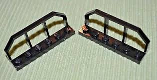 2 1x6x2 Black Fence Brick W Tapered Ends Railroad Lego New Railing Ebay