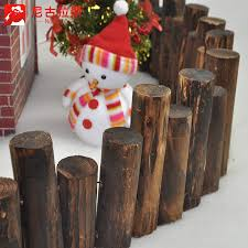 Buy Nicola S Cylindrical Carbonized Wood Fence Fence Fence Fence Christmas Tree Christmas Snow House Decorative Landscaping Props In Cheap Price On Alibaba Com