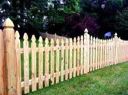 Scalloped Picket Fence Picket Fence Design Ideas Low Level Fence Limited Privacy Fence Family Fence Fences For Children Fence Design Dog Fence Backyard Fences