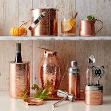 hammered copper mug cocktail glasses