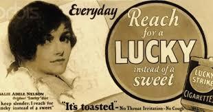 Rosalie Adele Nelson Lucky Strikes poster