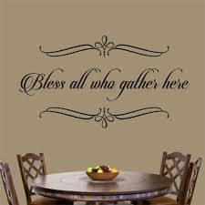 Christian Wall Decal Bless All Who Gather Here Religious Etsy