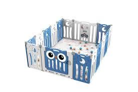 Dick Smith Kidbot 16 Panel Baby Safety Gate Baby Playpen Fence Child Gate Enclosure Owl Design Children S Furniture