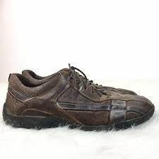 aldo mens leather shoes size 10 m brown
