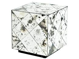 burnished mirror cube table