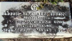 Leffie Mac Albritton (1909-1964) - Find A Grave Memorial