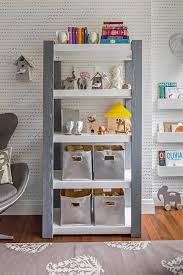 Gray Kids Bookshelf Design Ideas
