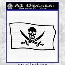 Jolly Roger Calico Jack Rackham Pirate Flag Sl Decal Sticker A1 Decals