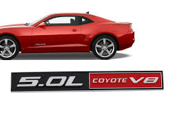 Ford Mustang Gt 5 0 Coyote 5 0l Abs Chrome 5 0 Emblem Fender Badge Decal Sticker