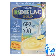CHÍNH HÃNG] Bột Ăn Dặm Vinamilk Ridielac Gold Gạo Sữa Hộp 200g ...