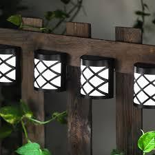 Bright Garden Solar Fence Lights Black 4 Pack Buy Online At Qd Stores