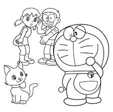 Tranh tô màu Doremon cho bé, ảnh tập tô màu cho bé