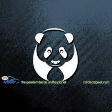 Freaking Adorable Panda Bear Car Decal Window Graphic Sticker