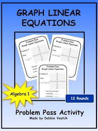 graph linear equations mixed review