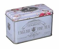 earl grey tea in memorabilia gift tin