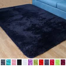 Pagisofe Soft Fluffy Blue Area Rugs For Bedroom Kids Room Living Room Carpet Shag Furry Fur