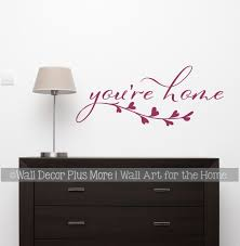 You Re Home Wall Decal Sticker Leaf Art Vinyl Decor Quote Letter Art